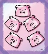 cute pig icons pc by lobuna