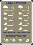 Simple4 Weather v1.02 4Avedesk