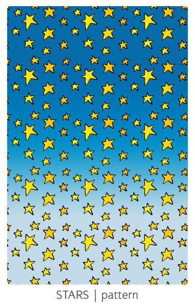 Cartoon Stars pattern by arwenita