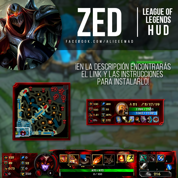 league of legends hud zed by aliceemad on deviantart