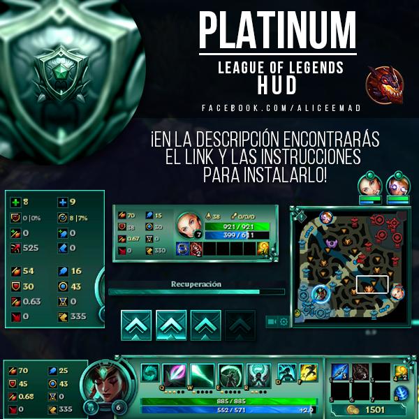 League of Legends HUD - Platinum by AliceeMad
