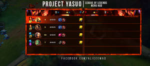 League of Legends Menu HUD - Project Yasuo by AliceeMad
