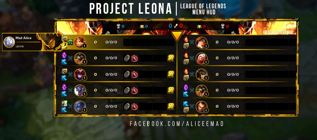 League of Legends Menu HUD - Project Leona by Keniaaaa