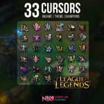 33 Champion Cursors Ingame - League of Legends