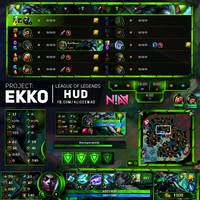 PROJECT: Ekko HUD - League of Legends by AliceeMad