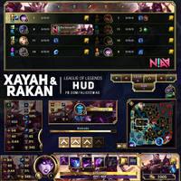 Xayah and Rakan HUD - League of Legends by AliceeMad