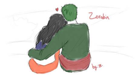 ZoRobin sketch, part two. by DoodleIara