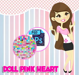 Pink heart doll