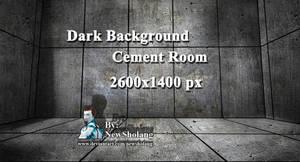 Dark Background Cement Room 2600x1400 px