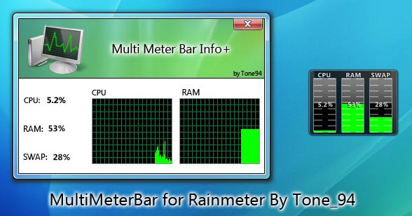 MultiMeterBar for Rainmeter by Tone94