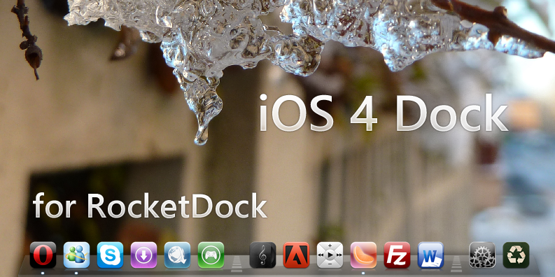 iOS 4 Dock for RocketDock by Tone94
