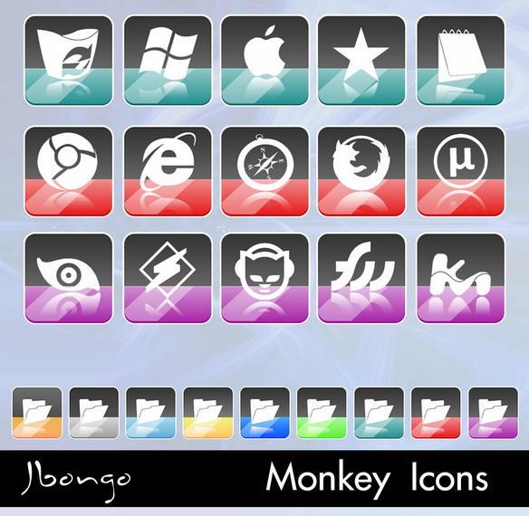 Monkey Icons by jbongo