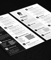 Freebie Resume template with CV by uniquegraph
