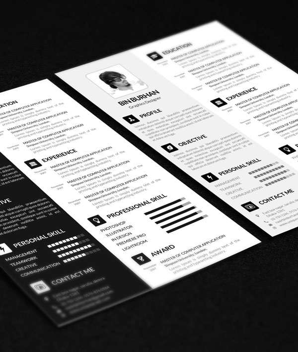 Freebie Resume Template With Cv By Uniquegraph On Deviantart