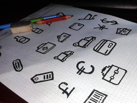 Hand Draw Icon Vol-1