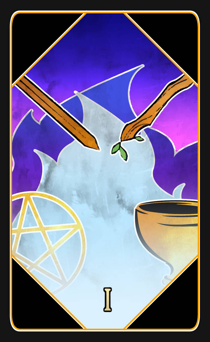 The Arcana Game: Tarot Card(The Magician) Template by GypsyNatayla