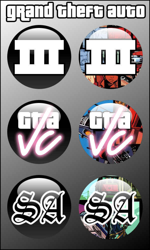 Grand Theft Auto Series Orbs by firba1