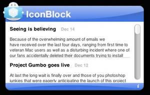 IconBlock RSS Widget