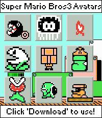 Super Mario Bros 3 Avatars