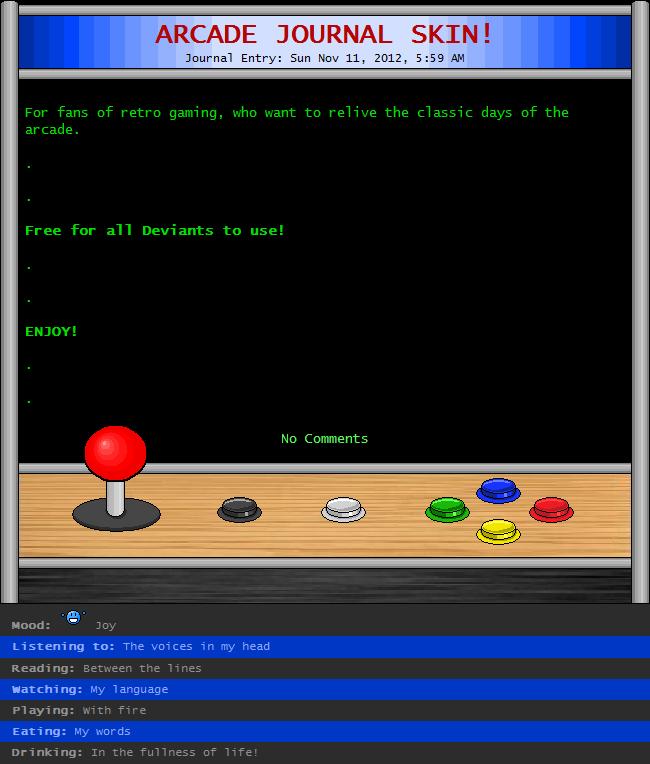 Arcade Journal CSS by Retro-Specs