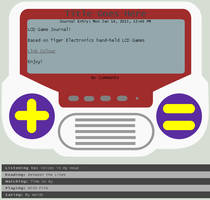 LCD Game Journal Skin by Retro-Specs