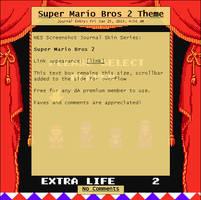 Super Mario Bros 2 Journal Skin by Retro-Specs