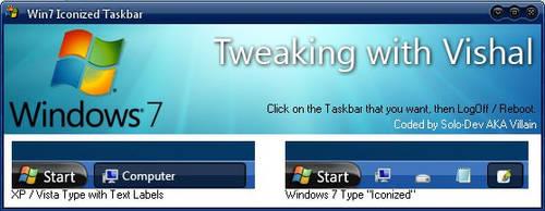 Windows 7 Taskbar Iconizer by SuprVillain