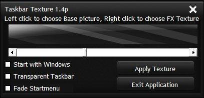 Taskbar Texturizer v1.4 by SuprVillain