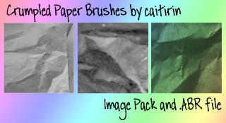 Crumpled Paper Brushes by caitirin