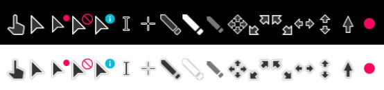 Material Design Cursors