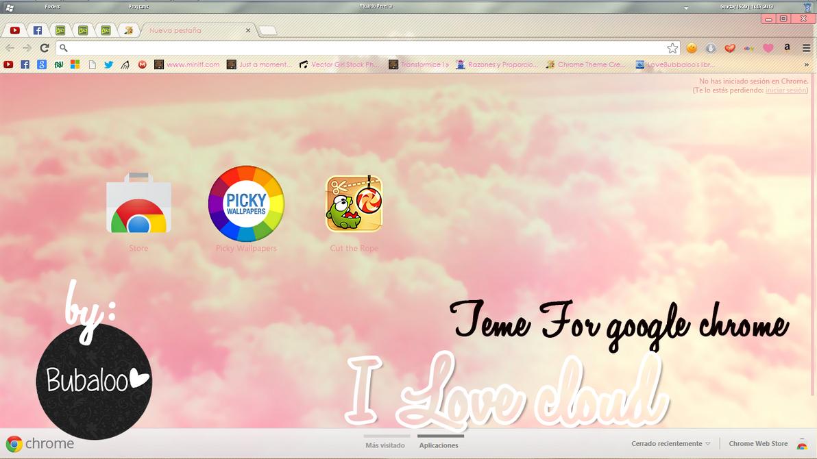 Google themes yaoi -  I Love Cloud Theme For Google Chrome By Purpuritaa