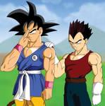 Goku and Vegeta go to Planet Vegeta (Animated)