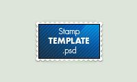 Stamp Template PSD by black--werewolf