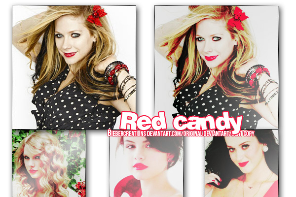 Red Candy- PSD by BieberCreations
