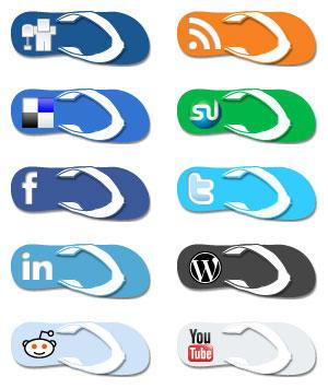 Flip Flop Social Media Icons by EffBomb
