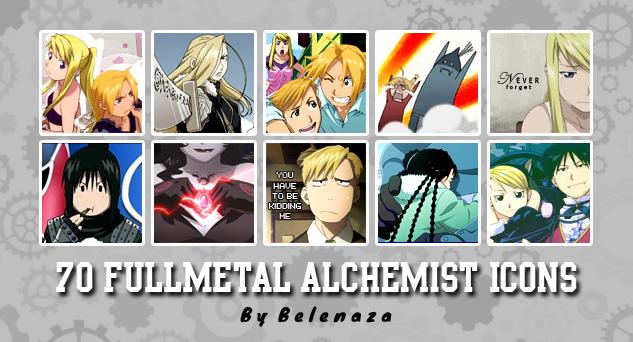 70 FullMetal Alchemist 100x100 Icons by belenaza