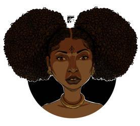 Afro-inks lighting study by eddaviel
