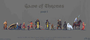 Pixel art Game of Thrones Character set - part I