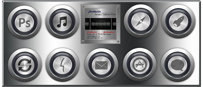 jSerlinArt Stainless Steel Media Icon Pack 2