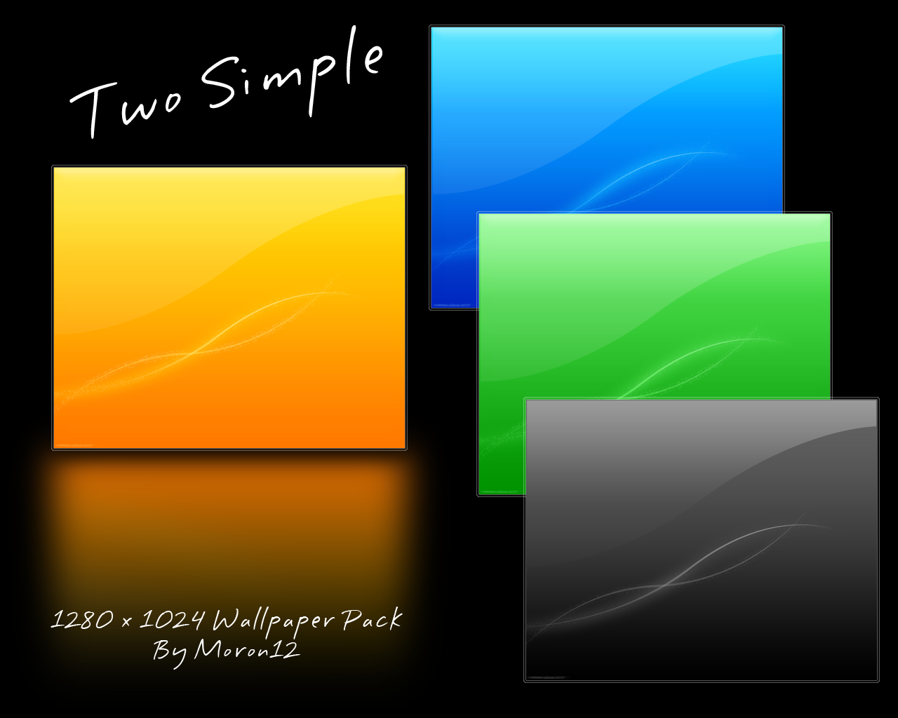 Two Simple Wallpaper Pack by moron12