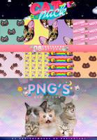 + Cat Pack / Read Below / Lee la descripcion by RADIANTWH0R3