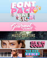 Font Pack // II by RADIANTWH0R3
