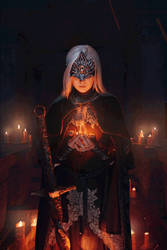 Dark Souls III - Fire keeper gif