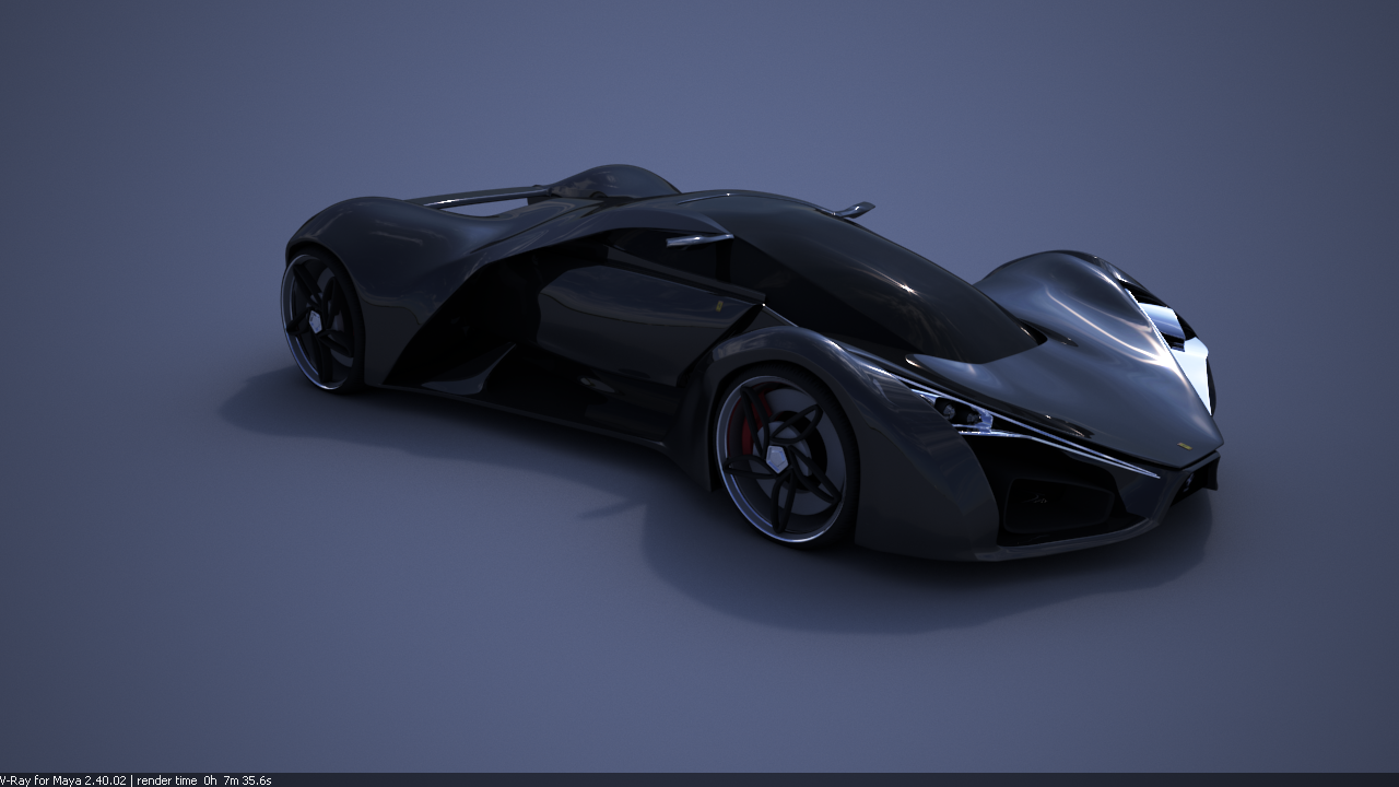 Ferrari F80 Concept Car Black By Selsdon20 On Deviantart