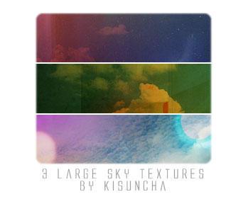 3 large sky textures