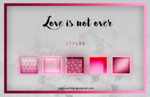 Styles / Love is not over by LadyWoolridge