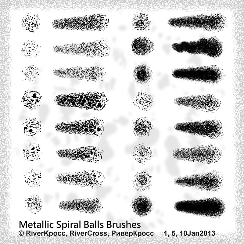 Metallic Spiral Balls Brushes by RiverKpocc