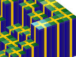 Isometric 3D rotatey tiles