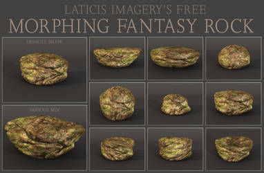 FREE DAZ Prop - Morphing Fantasy Rock by Laticis