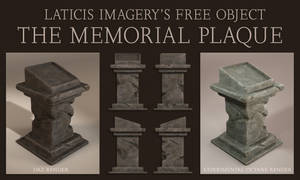 Free 3D Model - The Memorial Plaque by Laticis